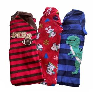 Carter's Boys Size 3T Bundle Of 3 Footies Pajamas